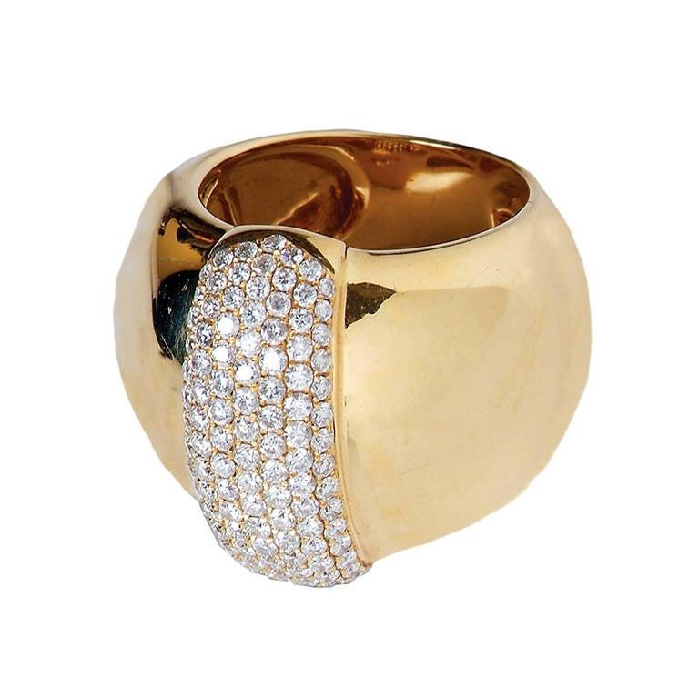 Dramatic Diamond Gold 1.36 Carat Cocktail Ring 1