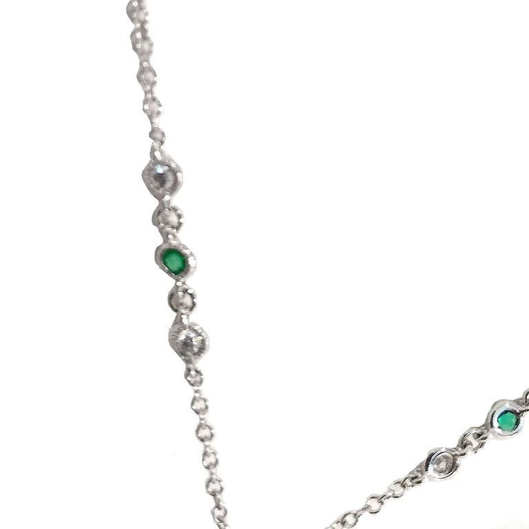 Art Deco 3.5 Carat Emerald Diamond Platinum Pendant Pin 3