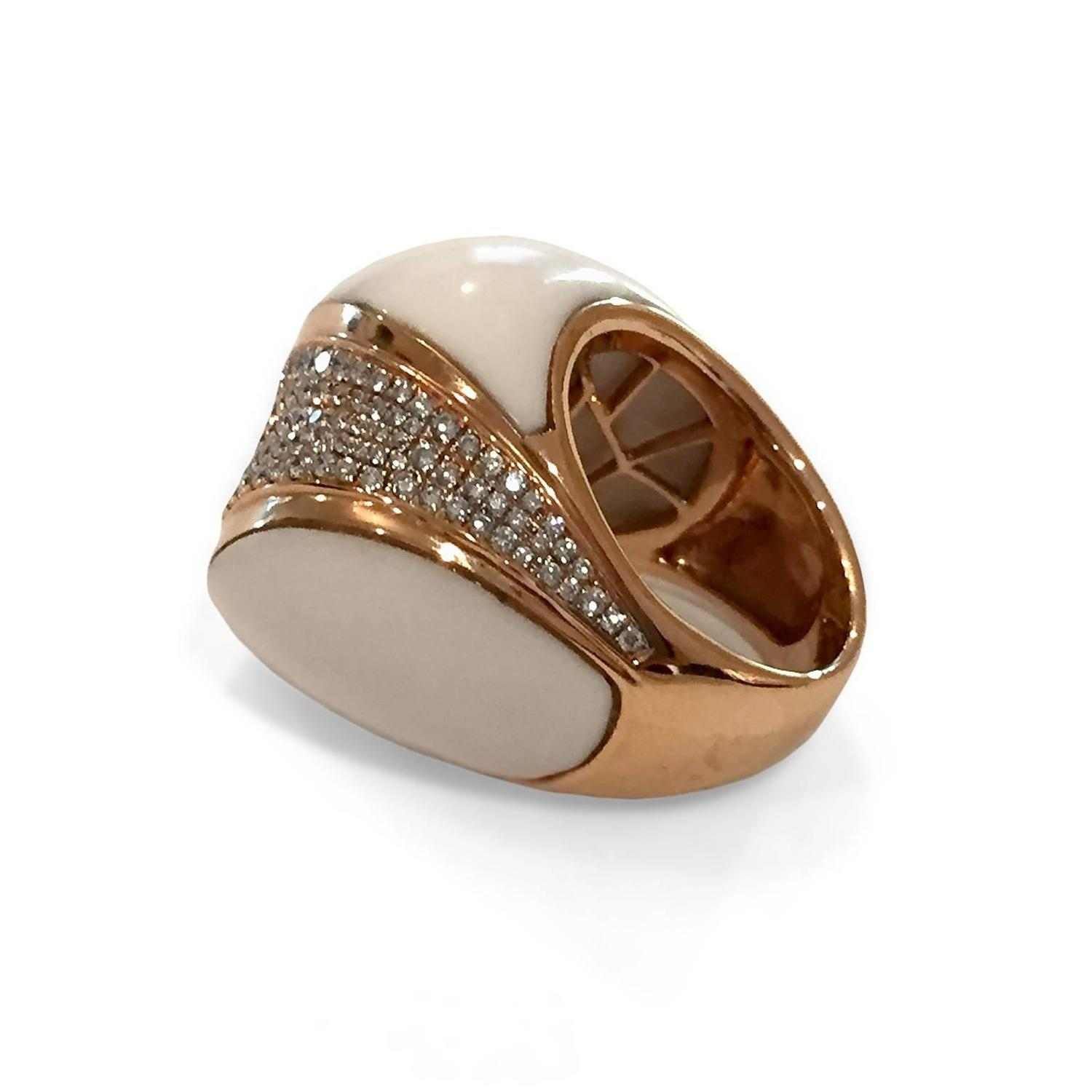 white agate gold quot city quot ring for sale at 1stdibs