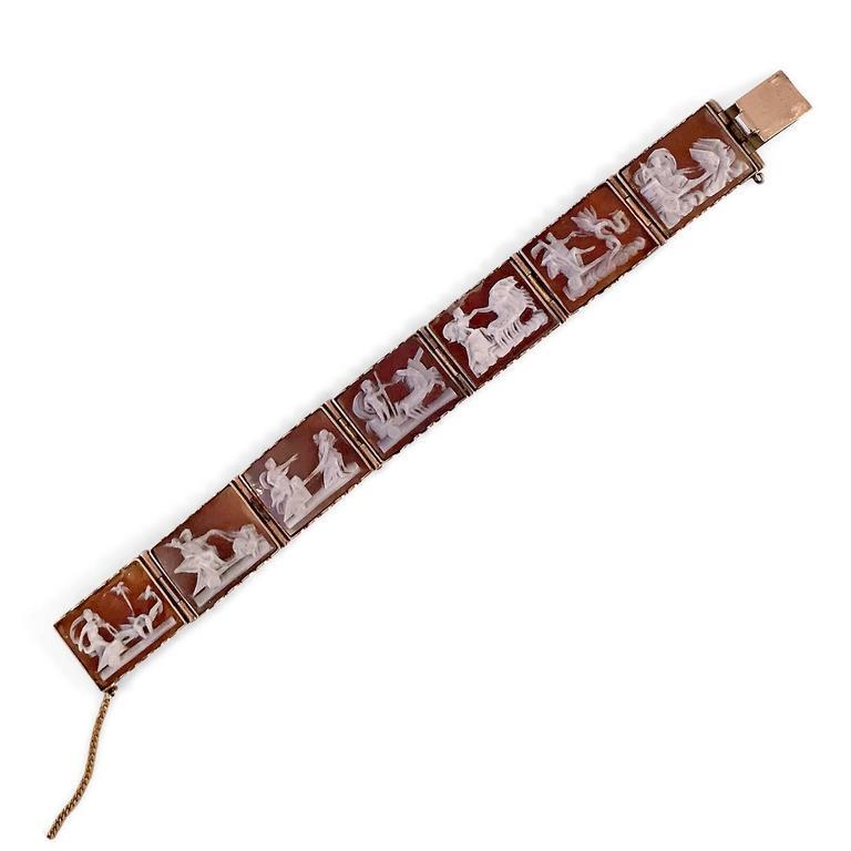 Antique Rare Scenic Cameo Bracelet  2