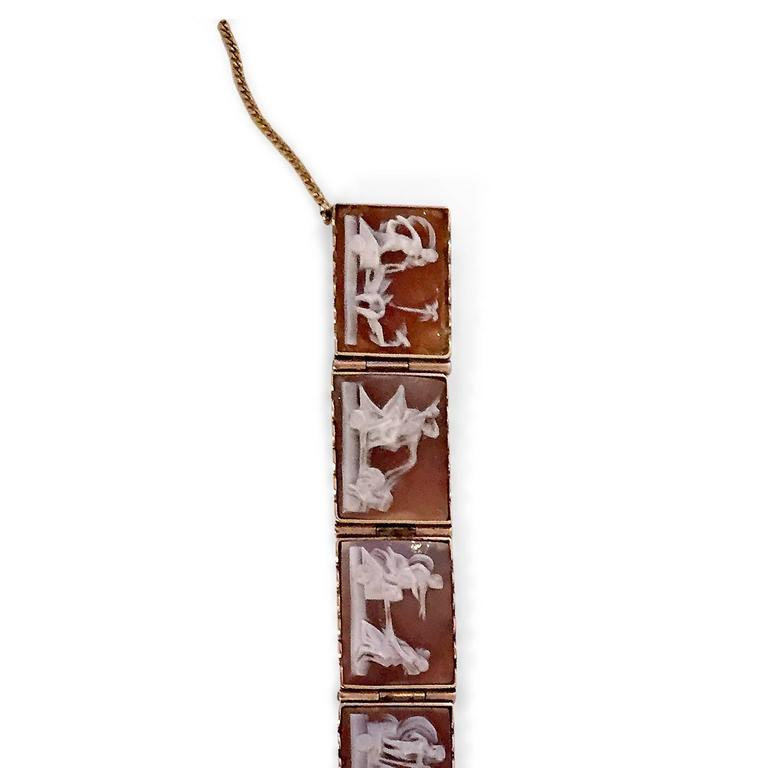 Antique Rare Scenic Cameo Bracelet  4