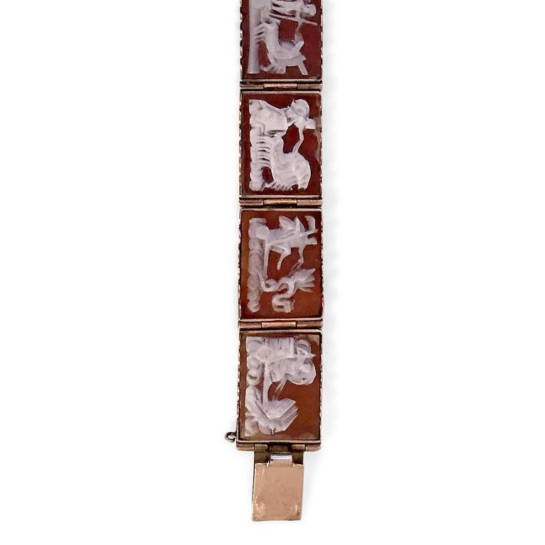 Antique Rare Scenic Cameo Bracelet  5