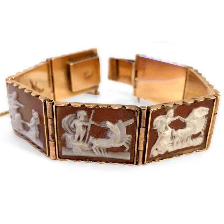 Antique Rare Scenic Cameo Bracelet  3
