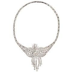 1950s Stunning  Diamond Platinum Necklace