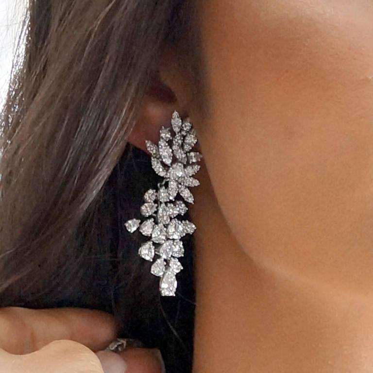 "Incredible Diamond Platinum ""Day to Gala"" Earrings 8"