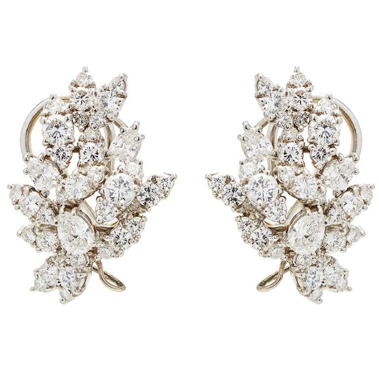 "Incredible Diamond Platinum ""Day to Gala"" Earrings 3"