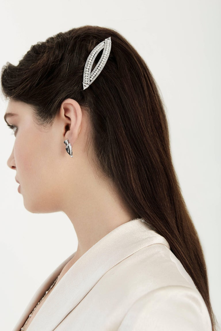 Victorian 4.76 Carat Pearl Diamond Gold Convertible Hair Clip Pendant 6