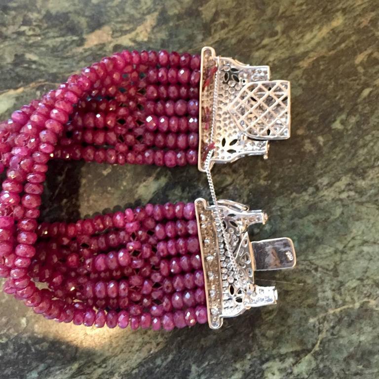 Devine Diamond and Ruby Bead Bracelet  4