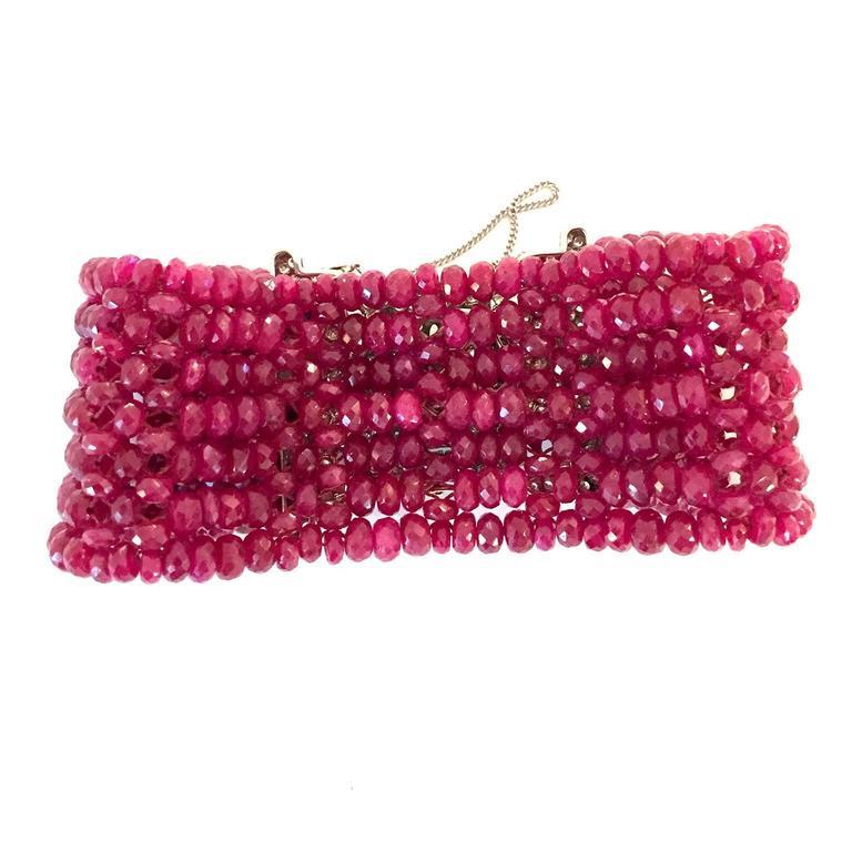 Devine Diamond and Ruby Bead Bracelet  6