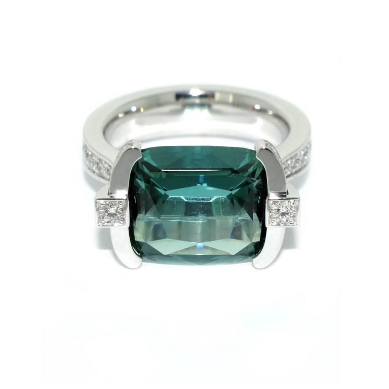 Blue Indicolite Tourmaline Rings
