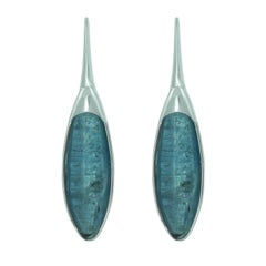 Lizunova White Gold Kyanite Drop Earrings