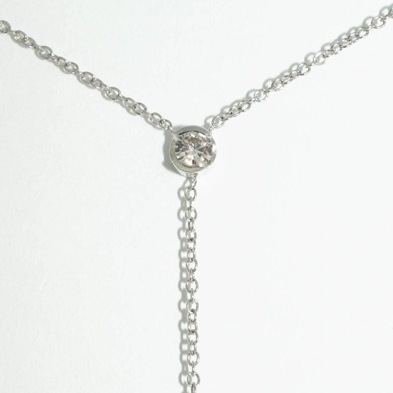 Lizunova Topaz and Diamond White Gold Pendant Necklace 5