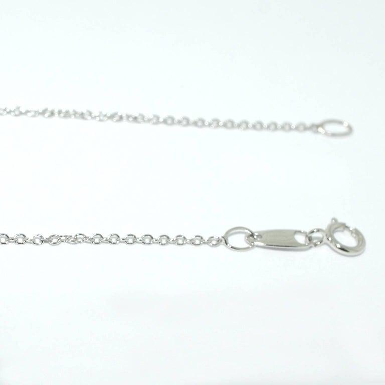 Lizunova Topaz and Diamond White Gold Pendant Necklace 7