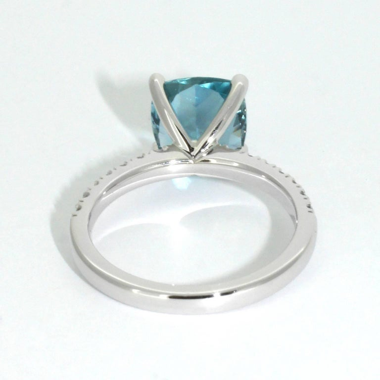 Lizunova Aquamarine and Diamond White Gold Ring 4