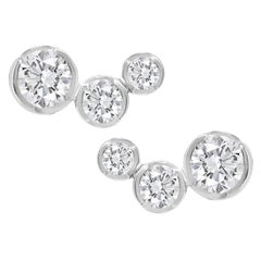 Lizunova Round Diamond Stud Earrings in White Gold