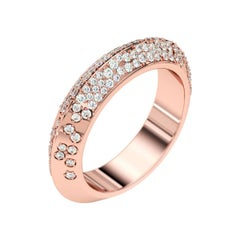 Lizunova Diamond Pave Eternity Rose Gold Bridal Band Ring