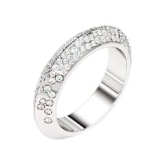 Lizunova Diamond Pave Eternity White Gold Bridal Band Ring