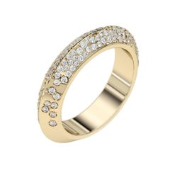 Lizunova Diamond Pave Eternity Yellow Gold Engagement Band Ring