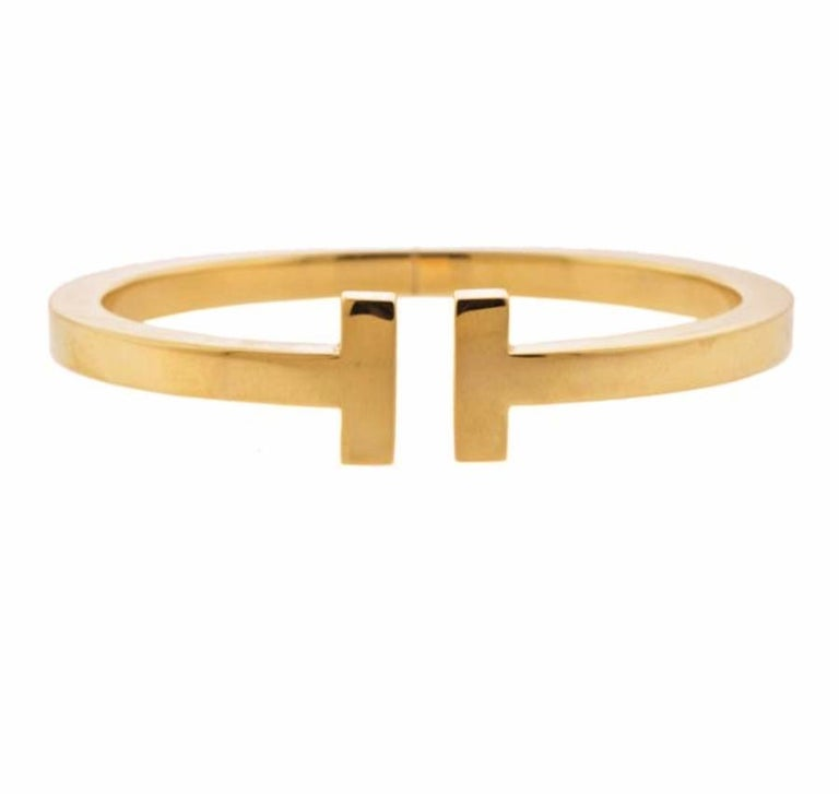 Tiffany & Co. T 18 Karat Yellow Gold Bangle