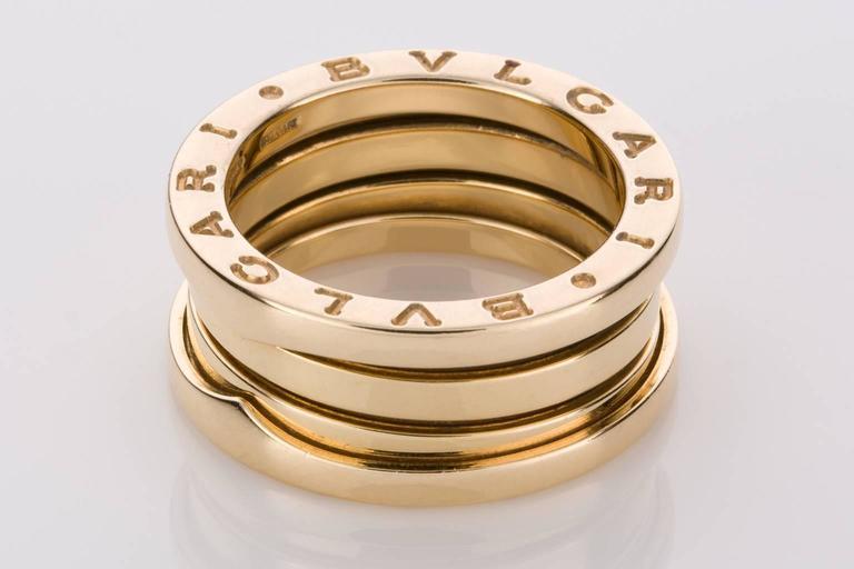 bulgari b zero threeband yellow gold ring 2