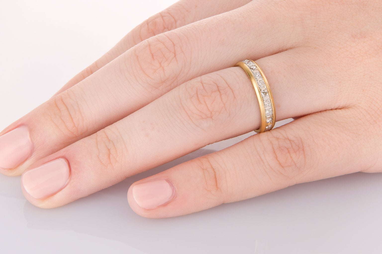 50 Carat Diamond and Yellow Gold Eternity Ring at 1stdibs