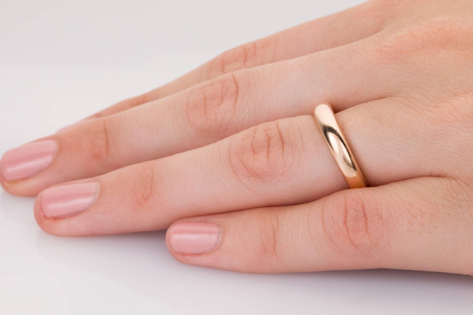 Cartier 18 Karat Rose Gold Band Ring at 1stdibs