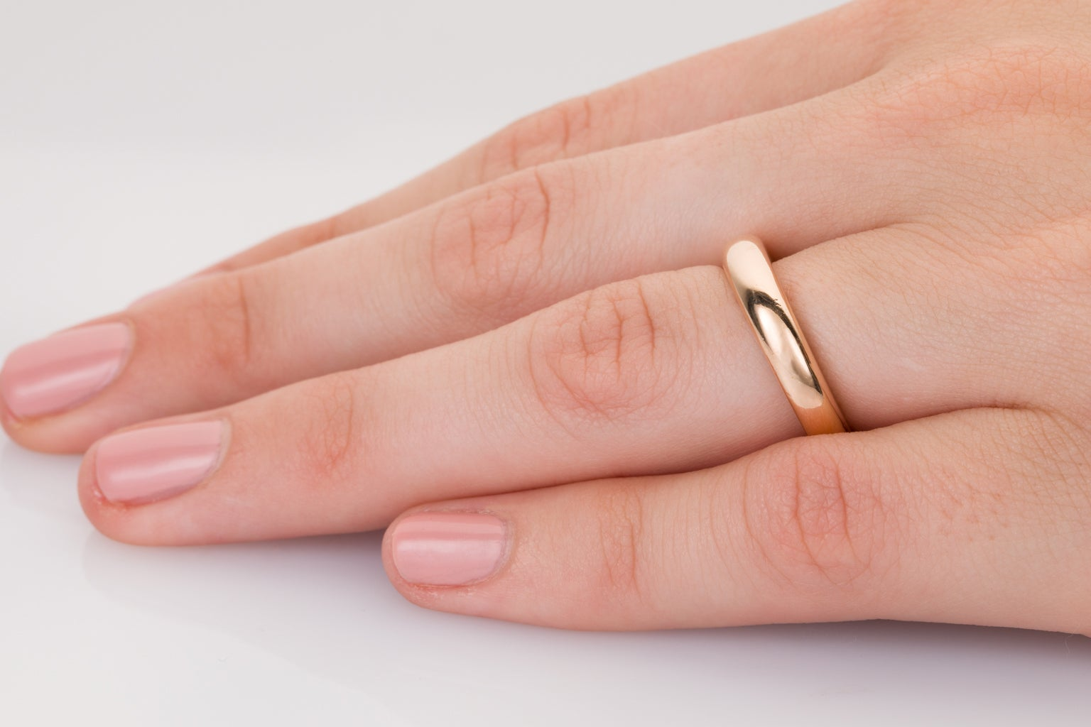 Cartier 18 Karat Rose Gold Band Ring at 1stdibs