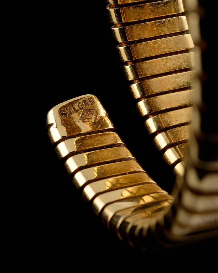 Bulgari Ladies Yellow Gold Serpenti Tubogas Wristwatch, circa 1970 2