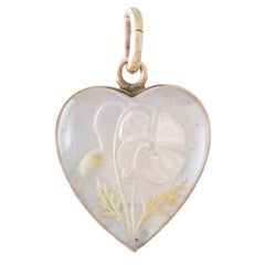 Reverse Crystal Heart Pendant Murrle Bennett & Co