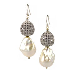 Decant Jewels Fresh Water Pearl Silver CZ Earring