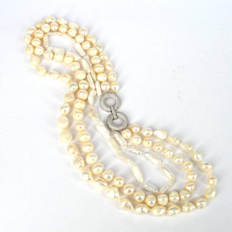 Decadent Jewels Fresh Water Pearl Multi Strand Necklace In New Condition For Sale In Sydney, AU
