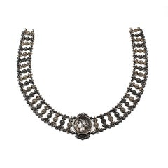 19th Century Austro-Hungarian Silver Collar Necklace