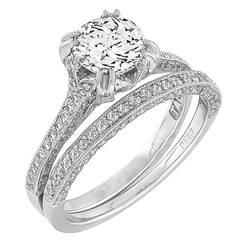 Tacori Diamond Engagement Ring and Wedding Band Set