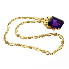 Tiffany & Co. Amethyst Gold Necklace