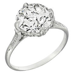 Three Carat Diamond Platinum Engagement Ring