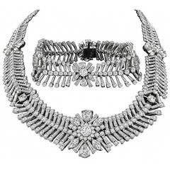 Important Diamond Necklace and Bracelet  Set