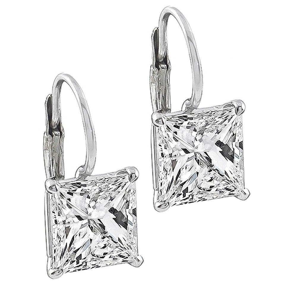 Carat Diamond Earrings Princess Cut