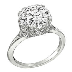 Antique GIA Certified 3.11ct Diamond Engagement Ring