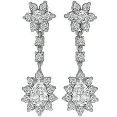 Enticing Diamond Gold Drop Earrings