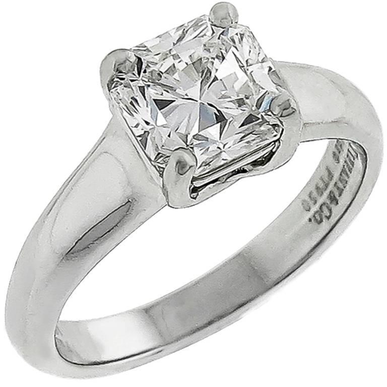 Tiffany And Co 1 50 Carat Lucida Cut Diamond Engagement