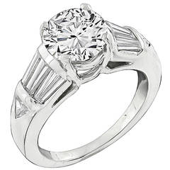 2.02 Carat Diamond Platinum Engagement Ring