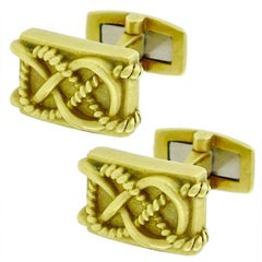 Barry Kieselstein Cord Gold Cufflinks