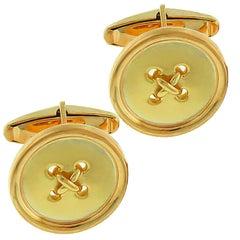 Tiffany & Co. Yellow Gold Button Cufflinks