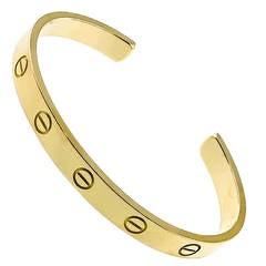 Cartier Gold Love Open Bangle