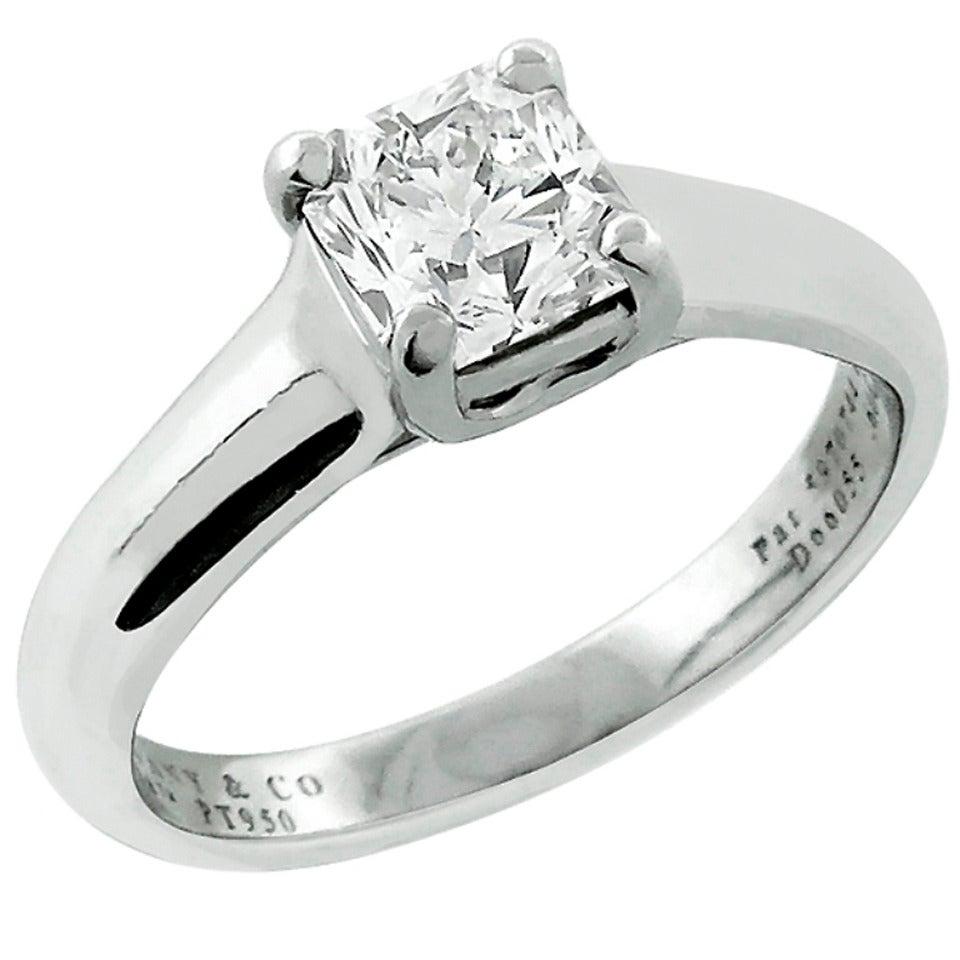 Tiffany And Co. Lucida Diamond Platinum Engagement Ring At