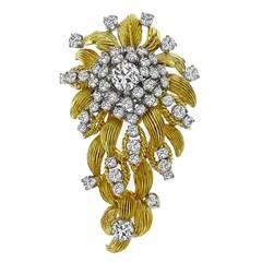 1960s Diamond Gold Pin