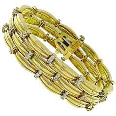 Tiffany & Co. Diamond Gold Bracelet