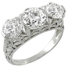 Edwardian GIA 1.71 Carat Center Diamond Ring