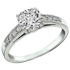 1.17 Carat Diamond Platinum Engagement Ring