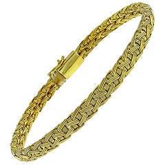 Roberto Coin Yellow Gold Woven Bracelet